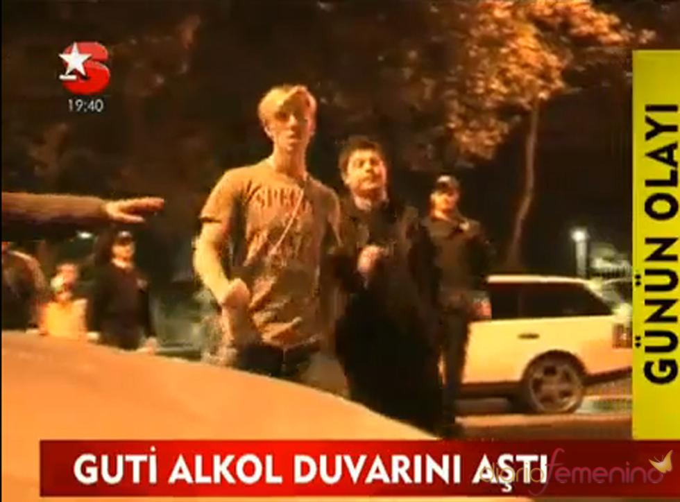 Guti, borracho en Turquía