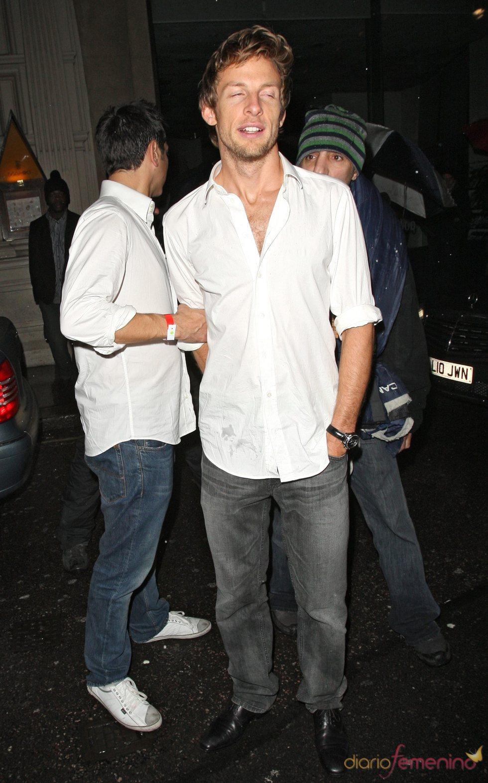 Jenson Button, borracho en Londres