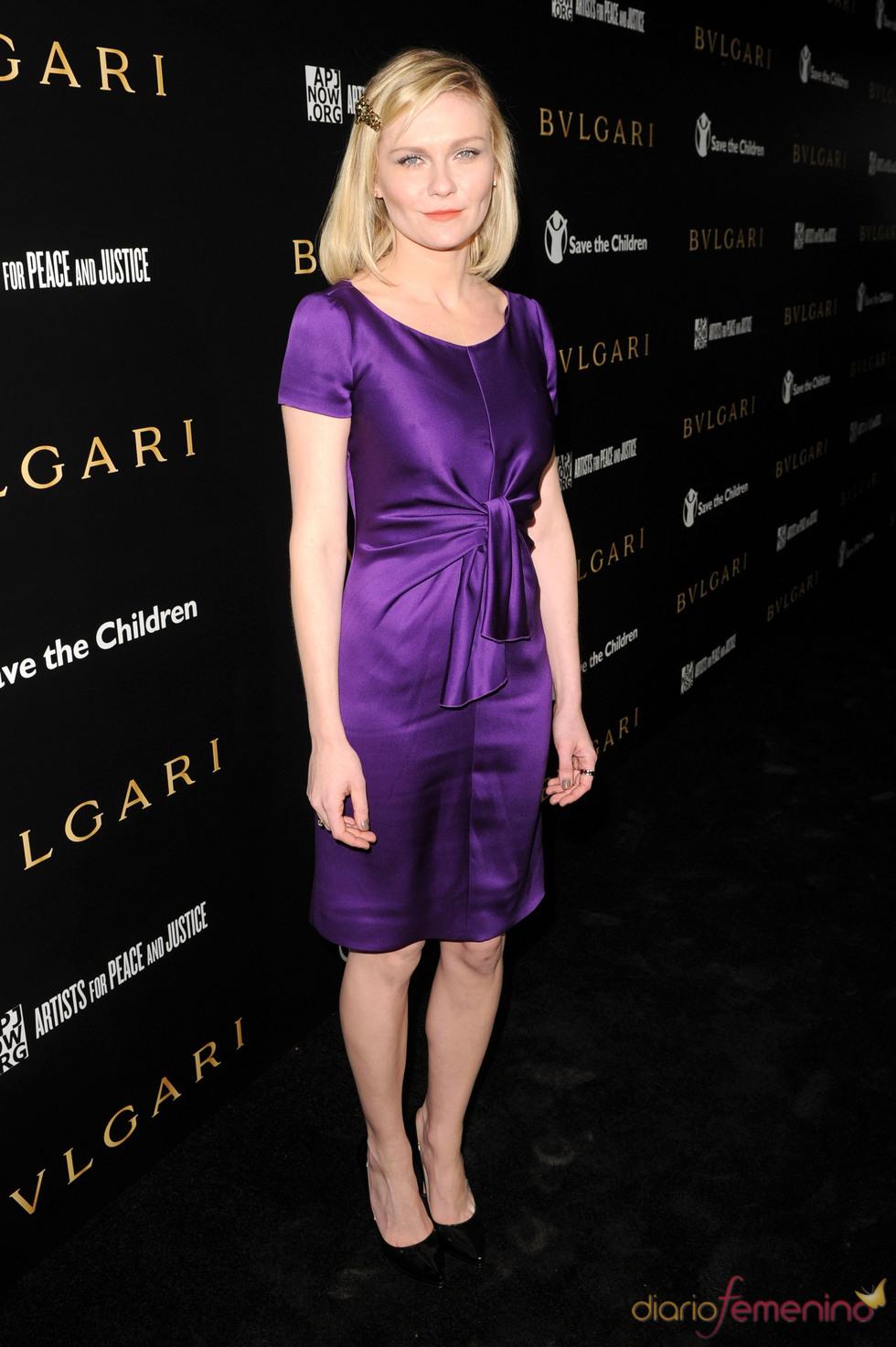 Kirsten Dunst en la gala benéfica de Bulgari