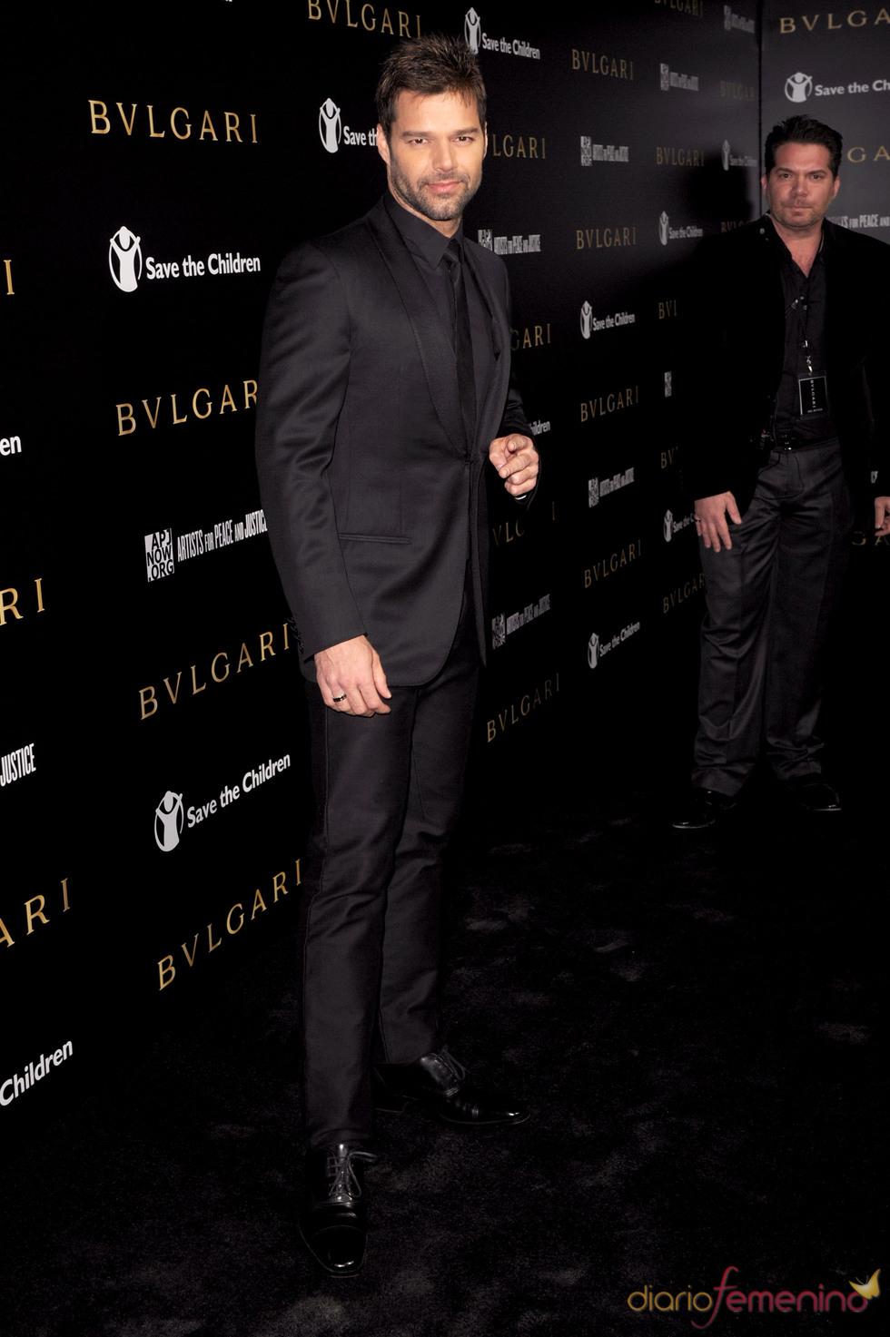 Ricky Martin en la gala benéfica de Bulgari
