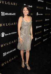 Lisa Edelstein en la gala benéfica de Bulgari
