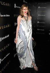 Milla Jovovich en la gala benéfica de Bulgari