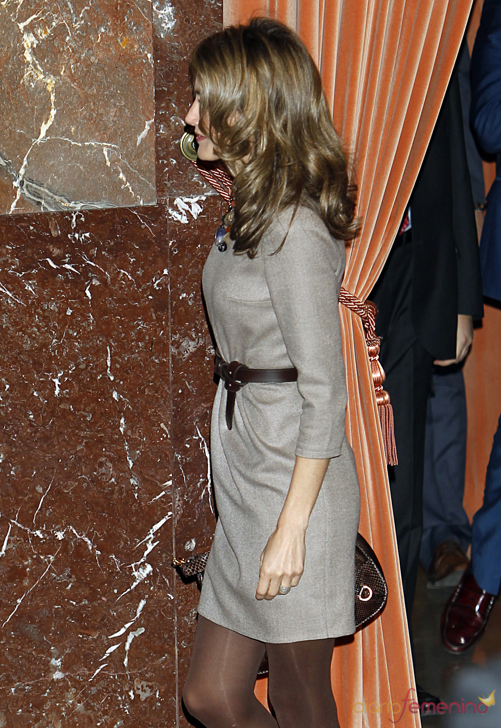 La Princesa Letizia lució figura antes los rumores de embarazo