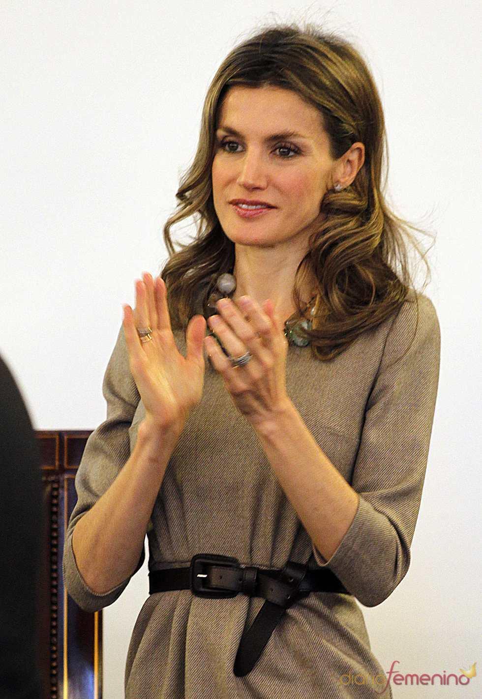 La Princesa de Asturias, muy sonriente antes los rumores de embarazo