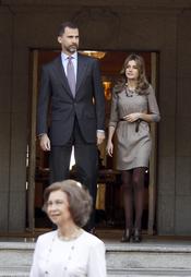 Los Príncipes de Asturias reciben al Presidente de Hungría