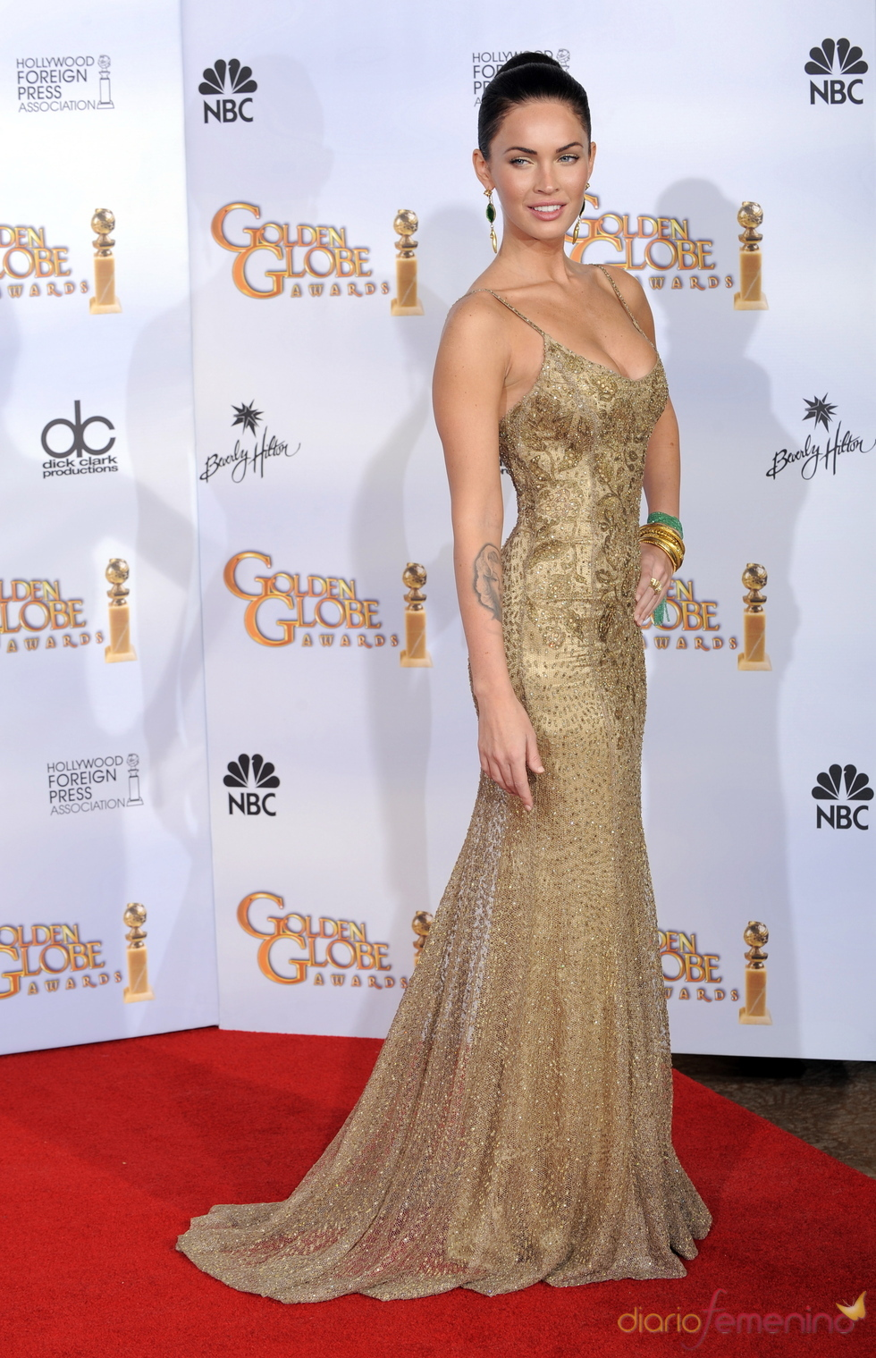 Megan Fox en los Globos de Oro 2009
