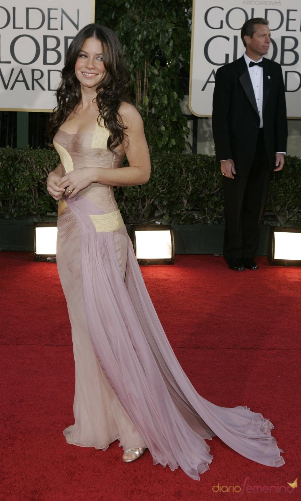 Evangeline Lilly en los Globos de Oro 2007
