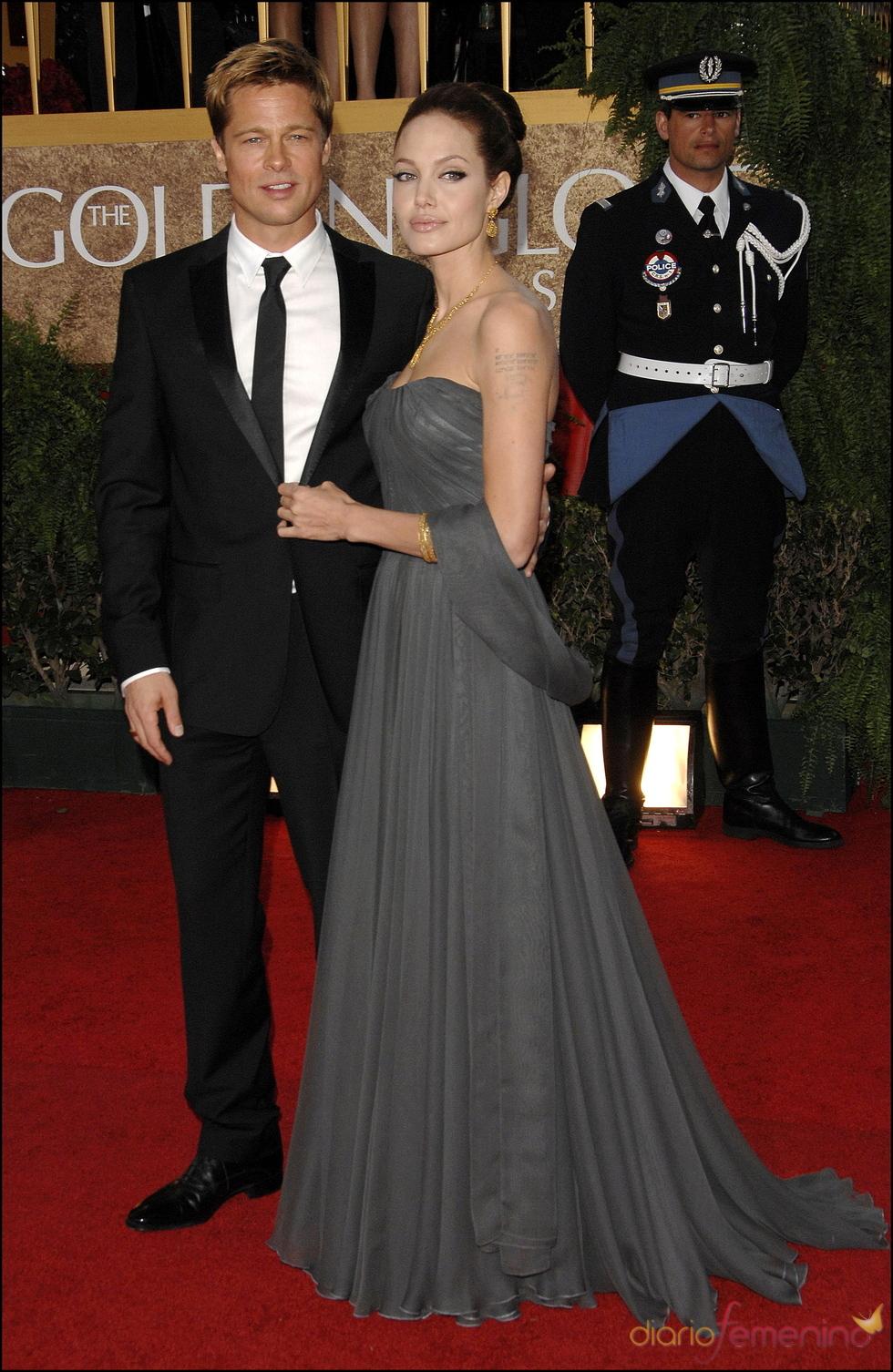 Brad Pitt y Angelina Jolie en los Globos de Oro 2007