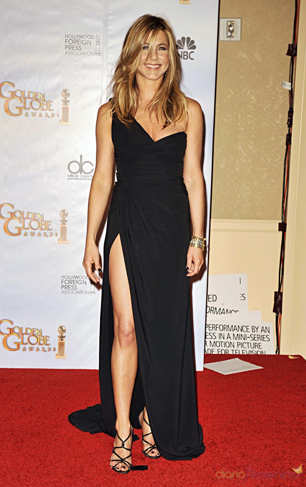 Jennifer Aniston en los Globos de Oro 2010