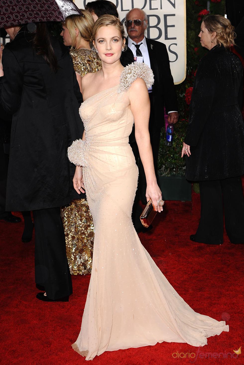 Drew Barrymore en los Globos de Oro 2010