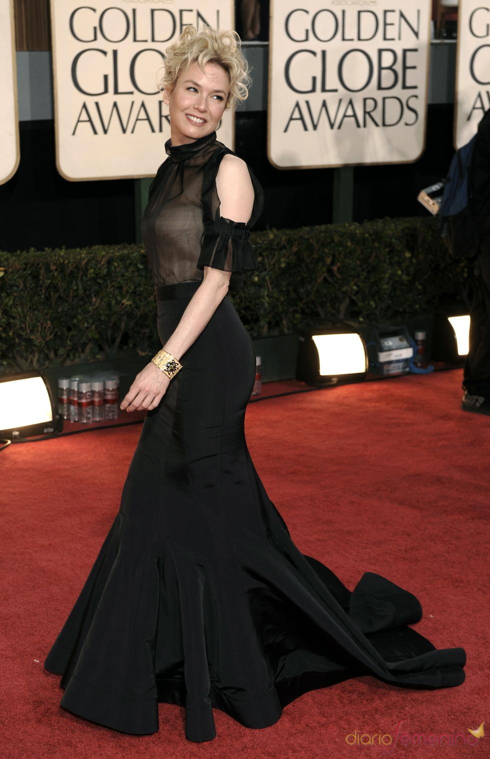 Renee Zellweger en los Globos de Oro 2009