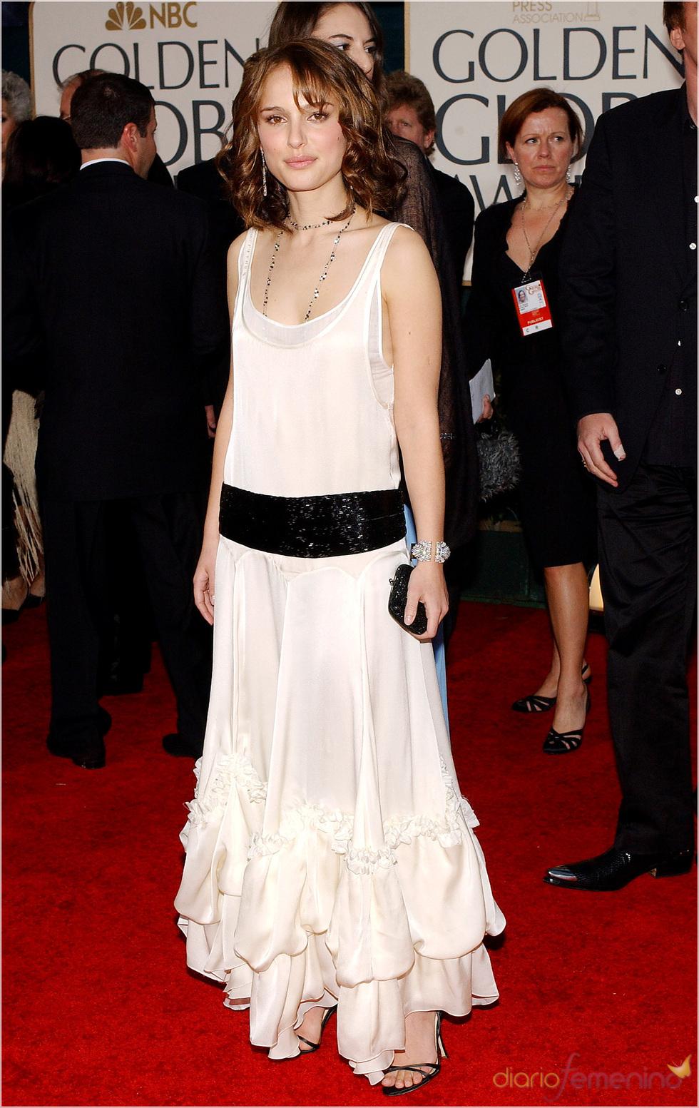 Natalie Portman en los Globos de Oro 2005