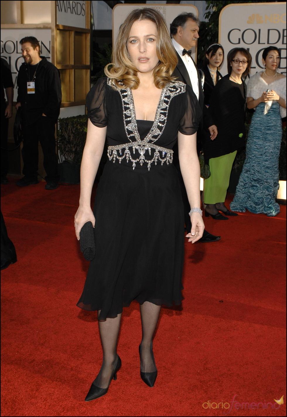 Gillian Anderson en los Globos de Oro 2007