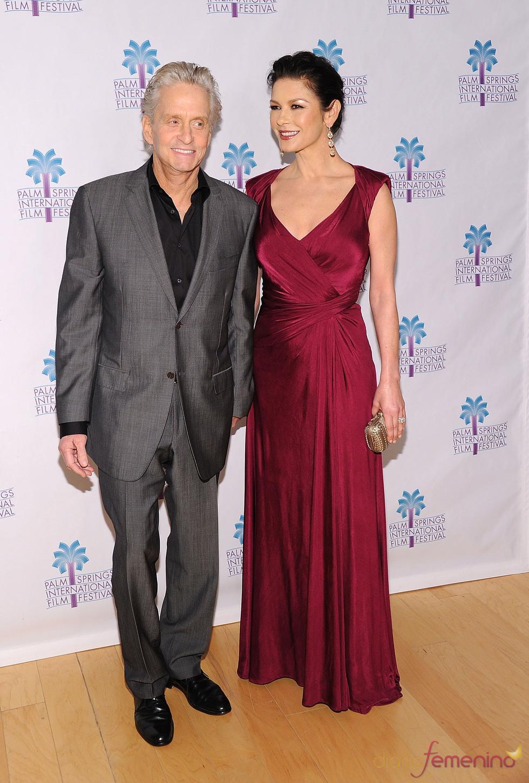 Michael Douglas y Catherine Zeta-Jones en el Festival de Cine de Palm Springs 2011