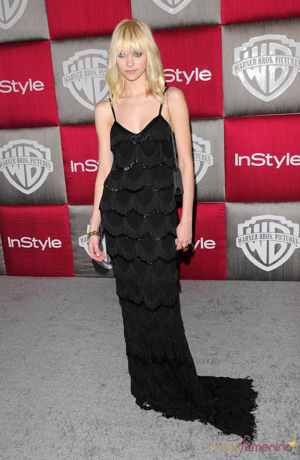 Taylor Momsen en los Globos de Oro 2009