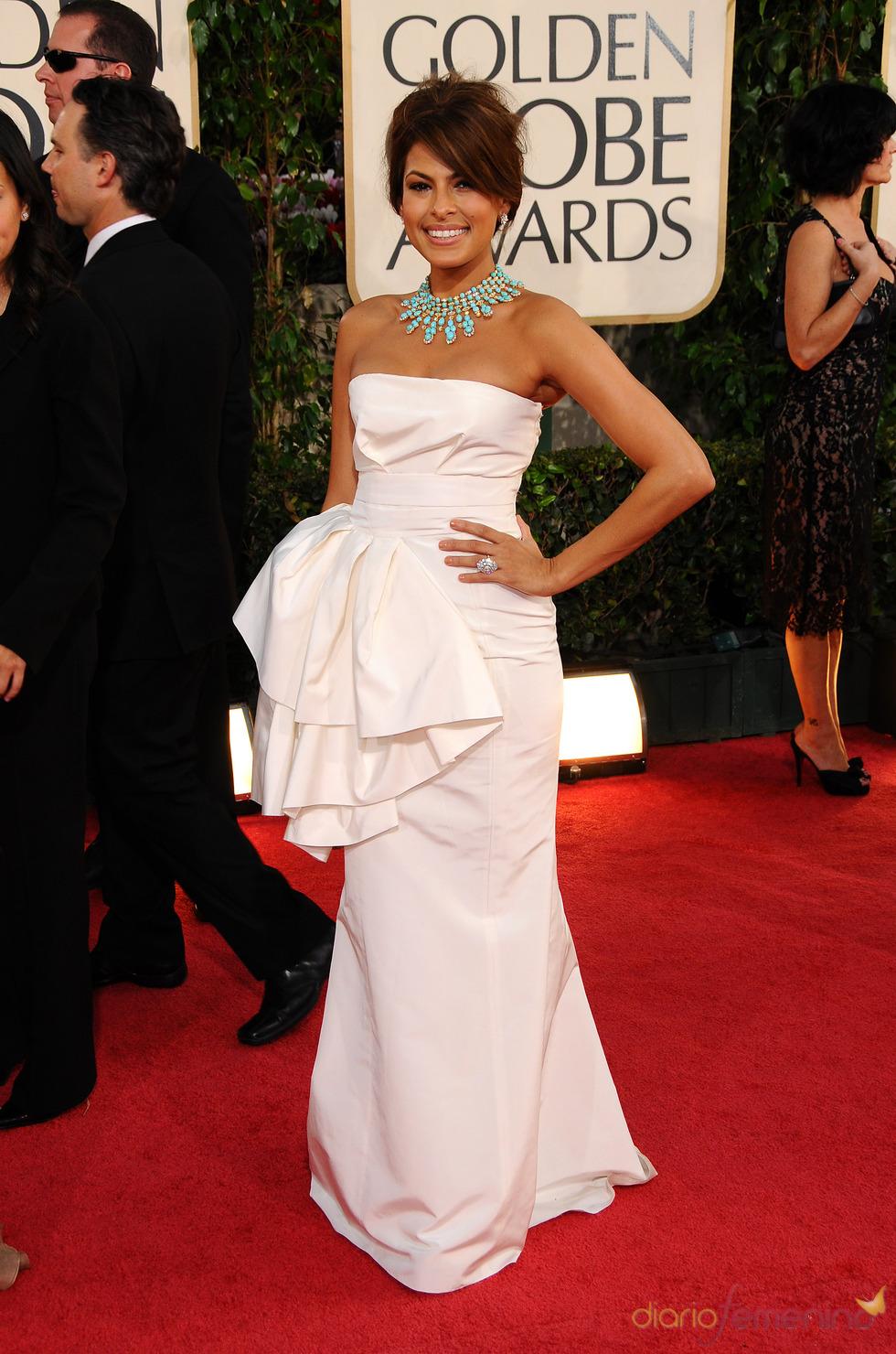 Eva Mendes en los Globos de Oro 2009