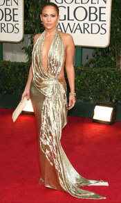 Jennifer López en los Globos de Oro 2009
