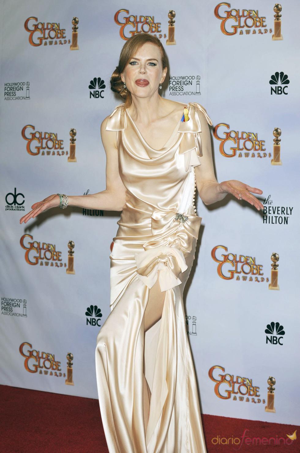 Nicole Kidman en los Globos de Oro 2010