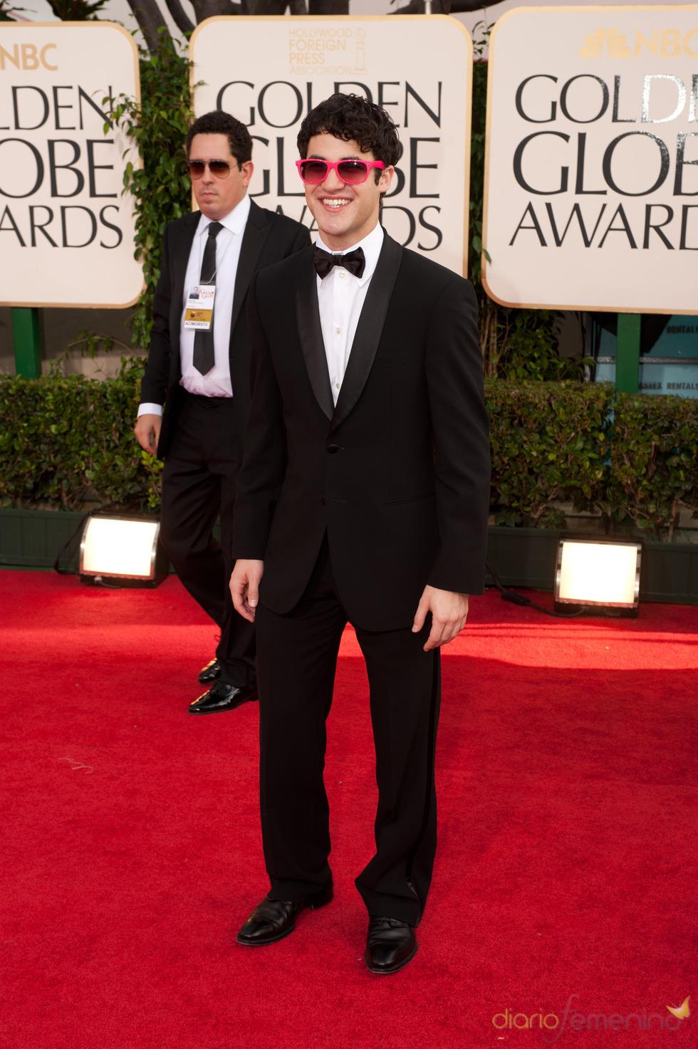 Darren Criss a su llegada a los Globos de Oro 2011