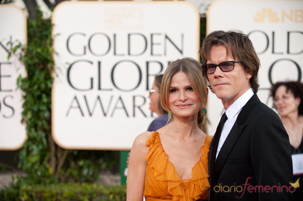 Kevin Bacon y su mujer, Kyra Sedgwick  en la ceremonia de los Globos de Oro 2011