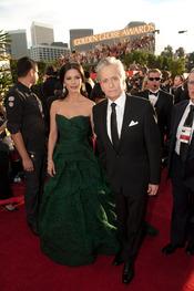 Michael Douglas y Catherine Zeta-Jones en los Globos de Oro 2011