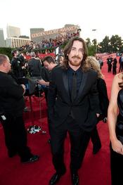 Christian Bale en la alfombra roja de los Globos de Oro 2011