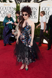 Helena Boham Carter en los Globos de Oro 2011