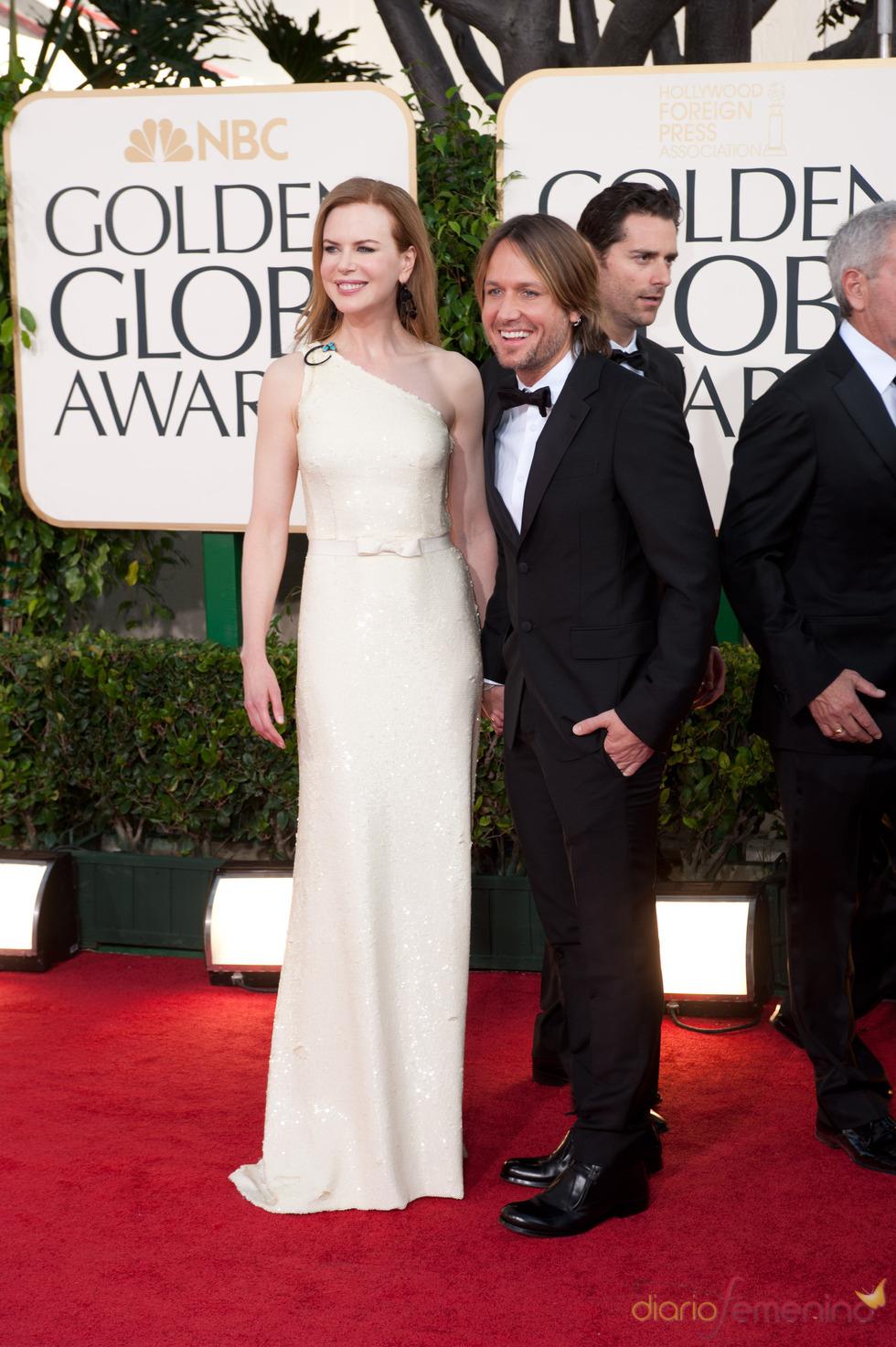Nicole Kidman y Keith Urban en los Globos de Oro 2011