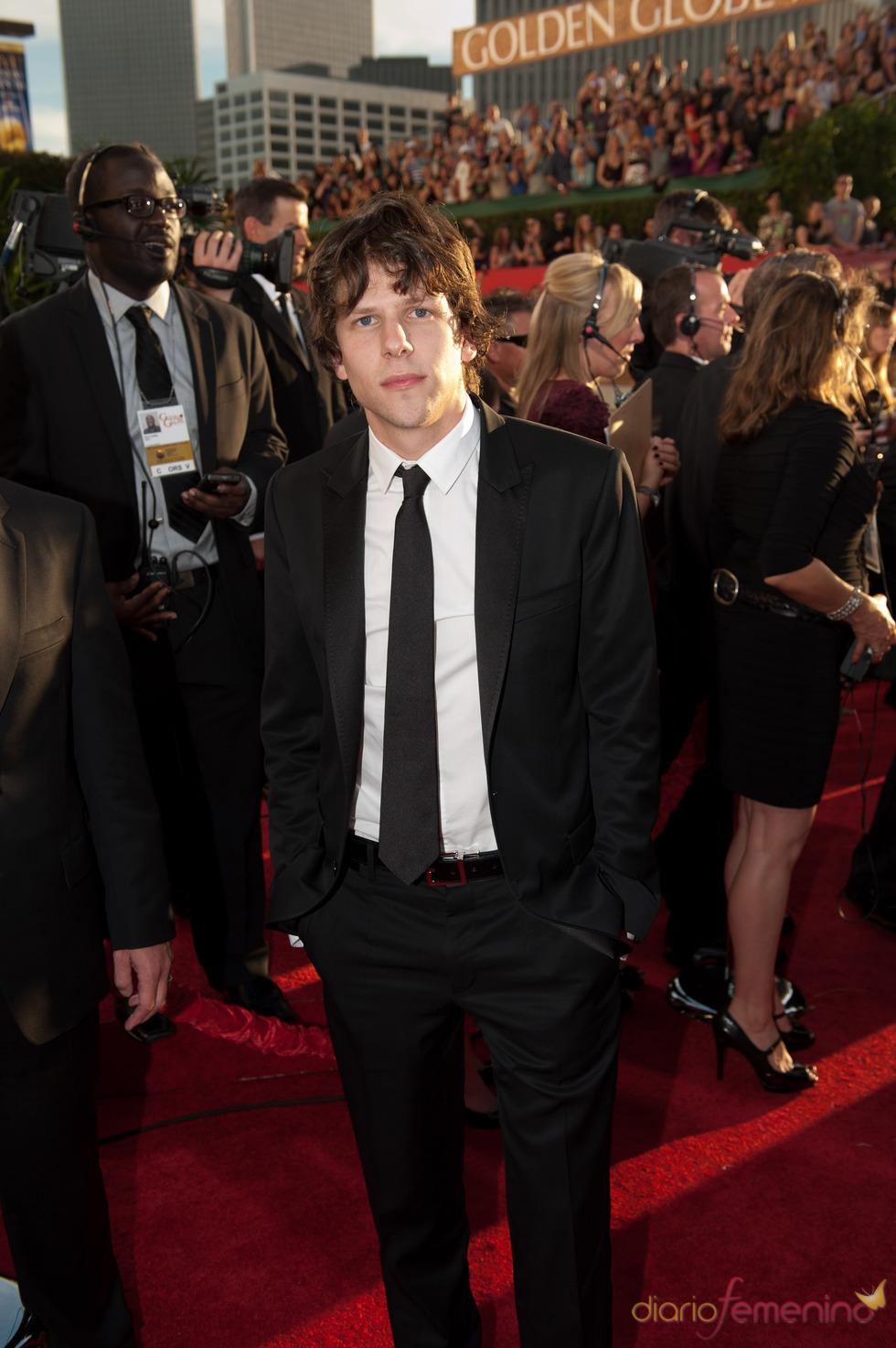 Jesse Eisenberg en los Globos de Oro 2011