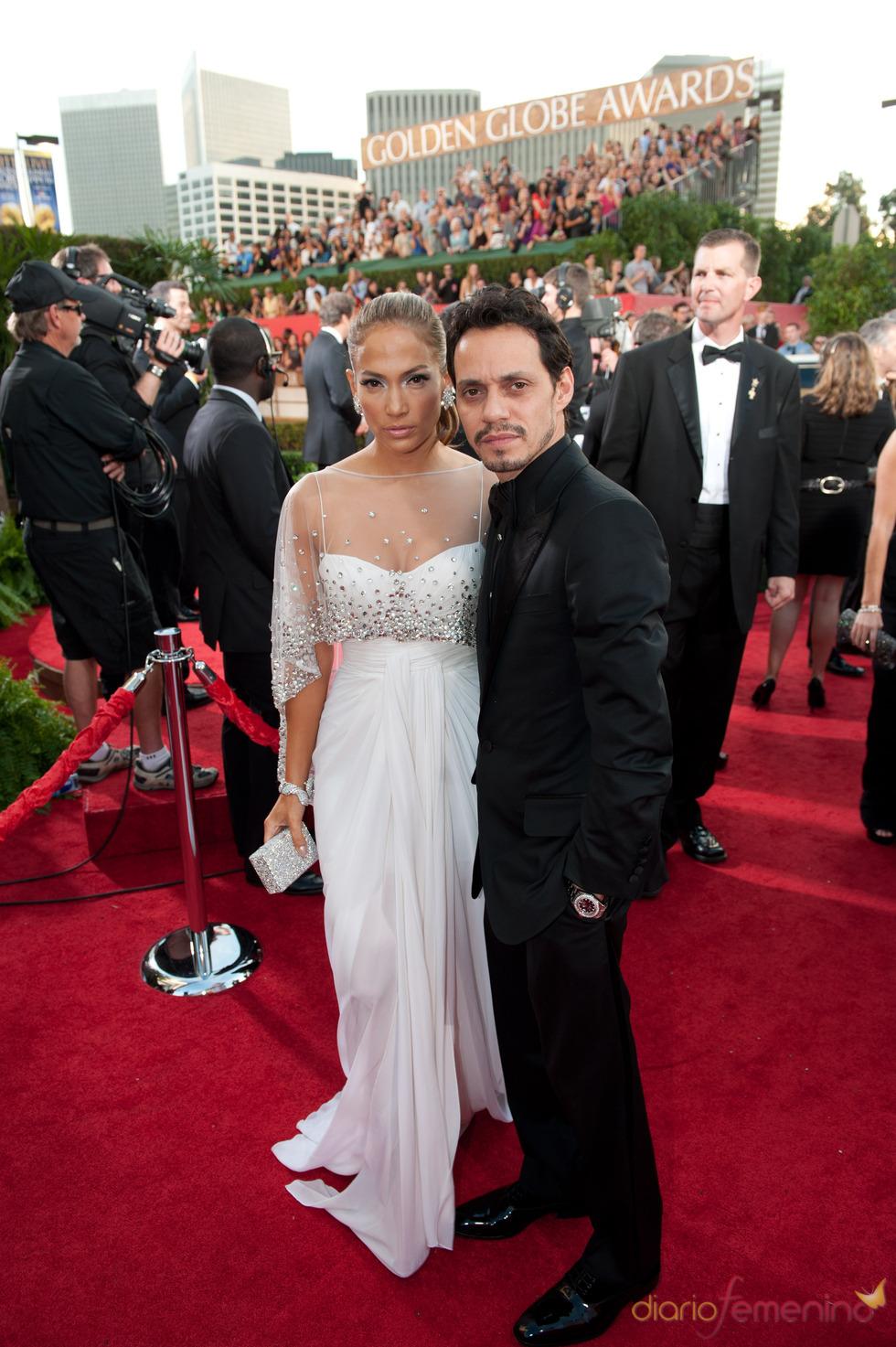 Jennifer Lopez y Marc Anthony en los Globos de Oro 2011