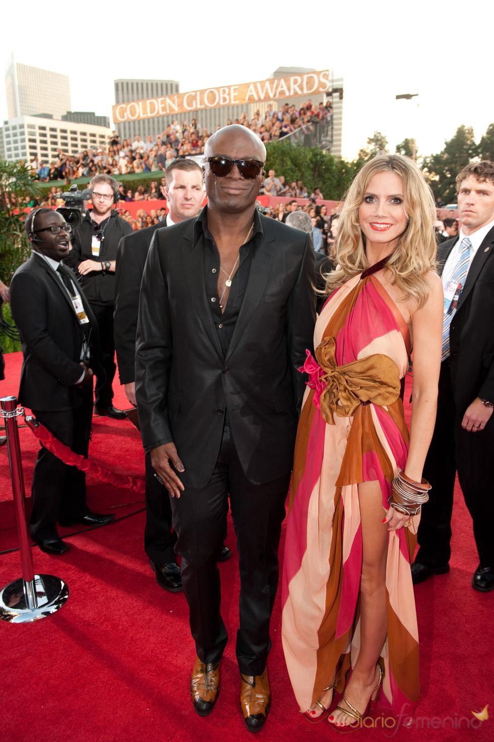Heidi Klum y Seal en los Globos de Oro 2011