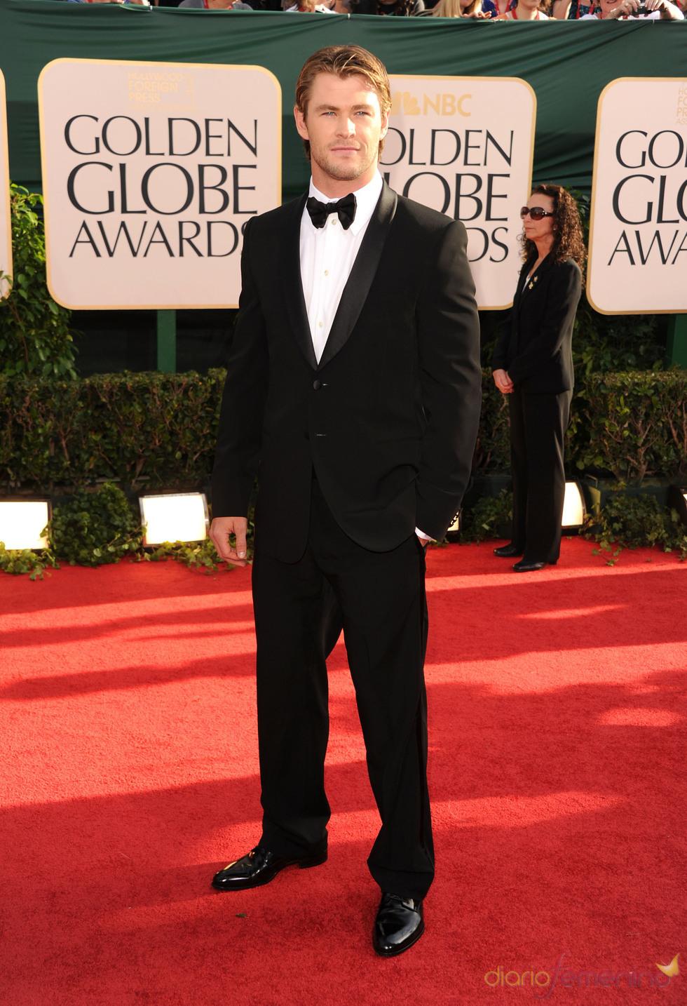 Chris Hemsworth en los Globos de Oro 2011