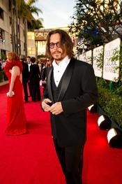 Johnny Depp en los Globos de Oro 2011