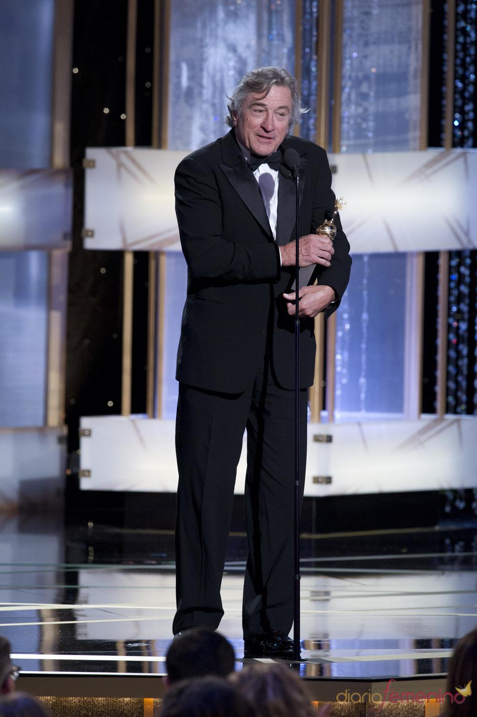 Robert De Niro galardonado en los Globos de Oro 2011
