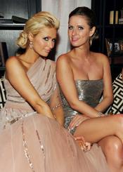 Paris y Nicky Hilton en la fiesta posterior a los Globos de Oro 2011