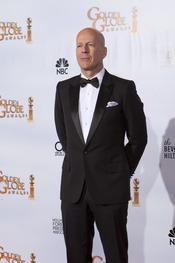 Bruce Willis en los Globos de Oro 2011