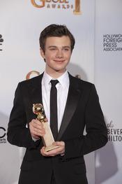Chris Colfer, de 'Glee', premiado en los Globos de Oro 2011