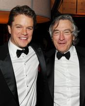 Matt Damon y Robert de Niro en la fiesta posterior a los Globos de Oro 2011