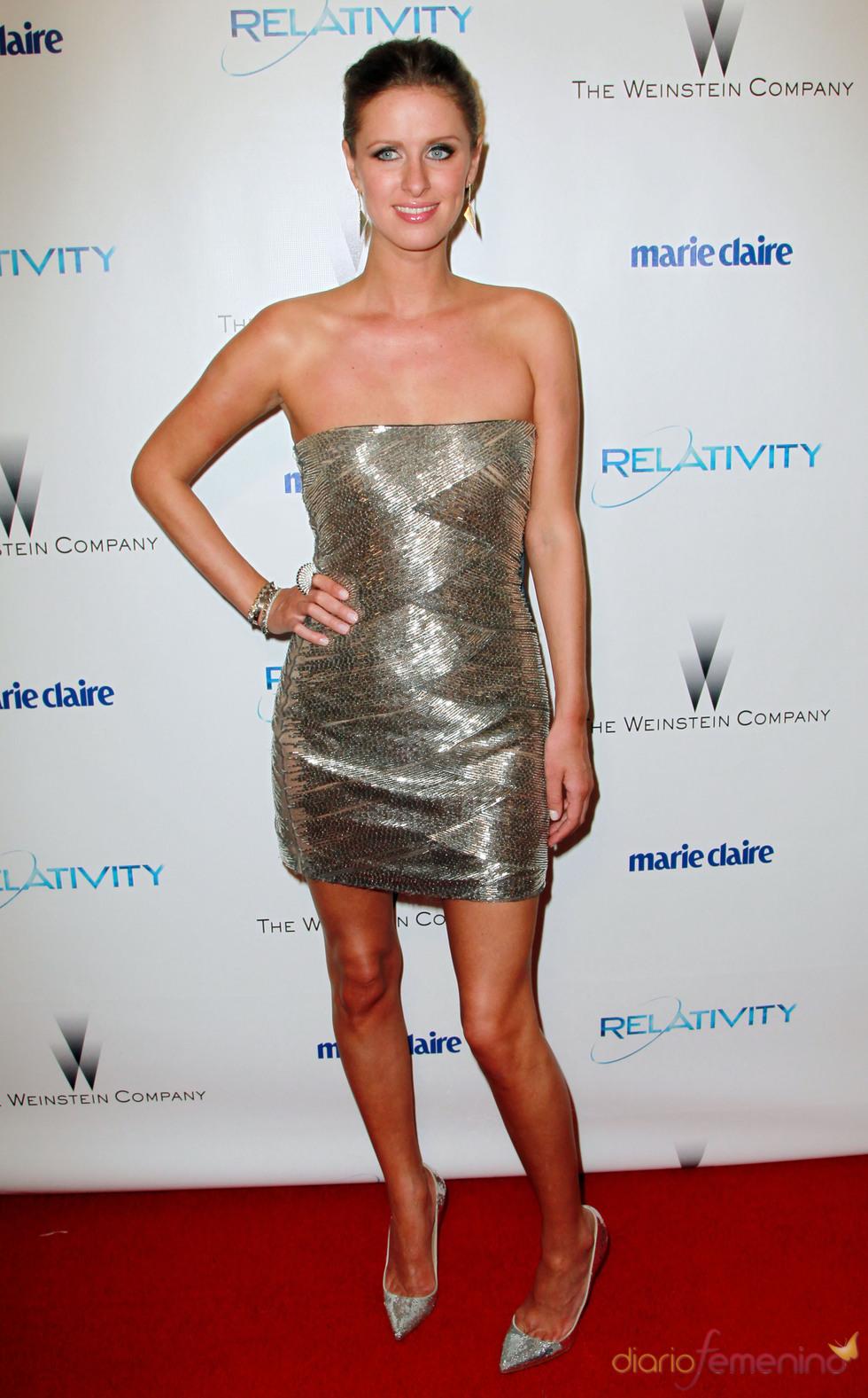 Nicky Hilton en una fiesta posterior a los Globos de Oro 2011