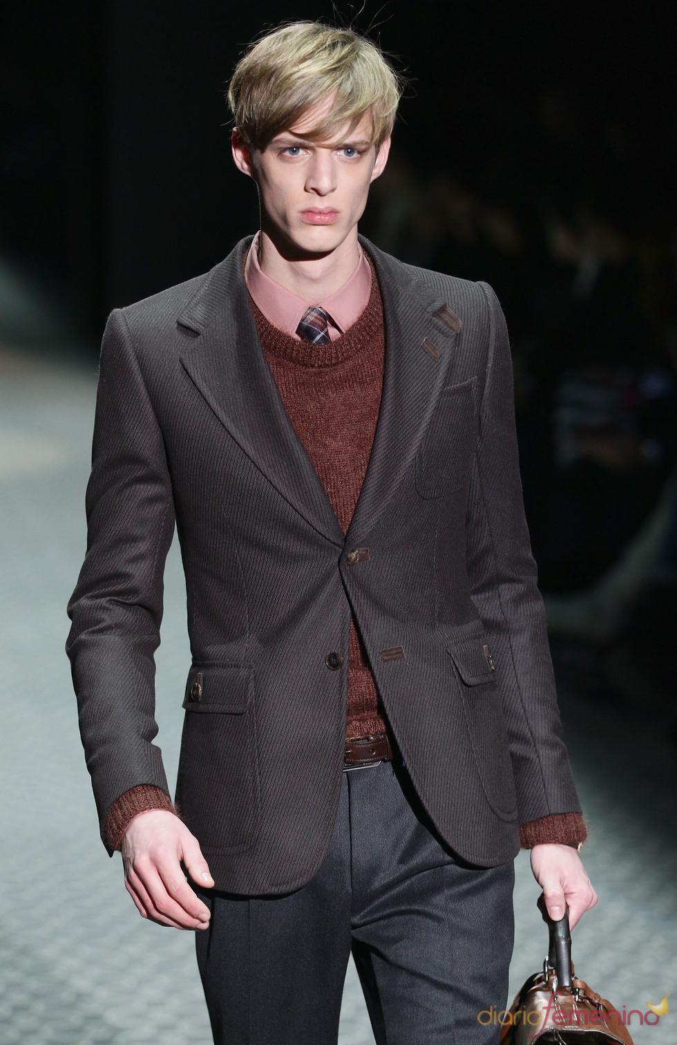 Look sport en marrones de Gucci para la MFW A/W