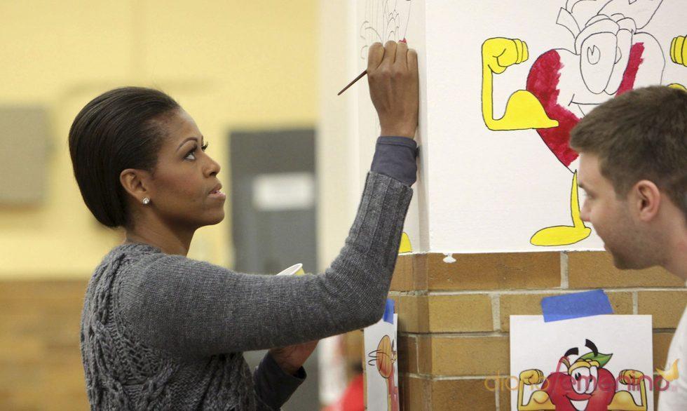 Michelle Obama festeja su 47 cumpleaños en un acto solidario
