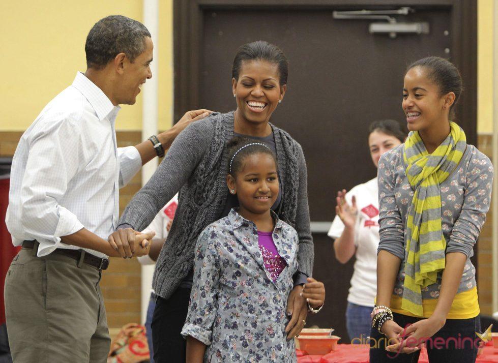La familia Obama homenajea a Martin Luther King