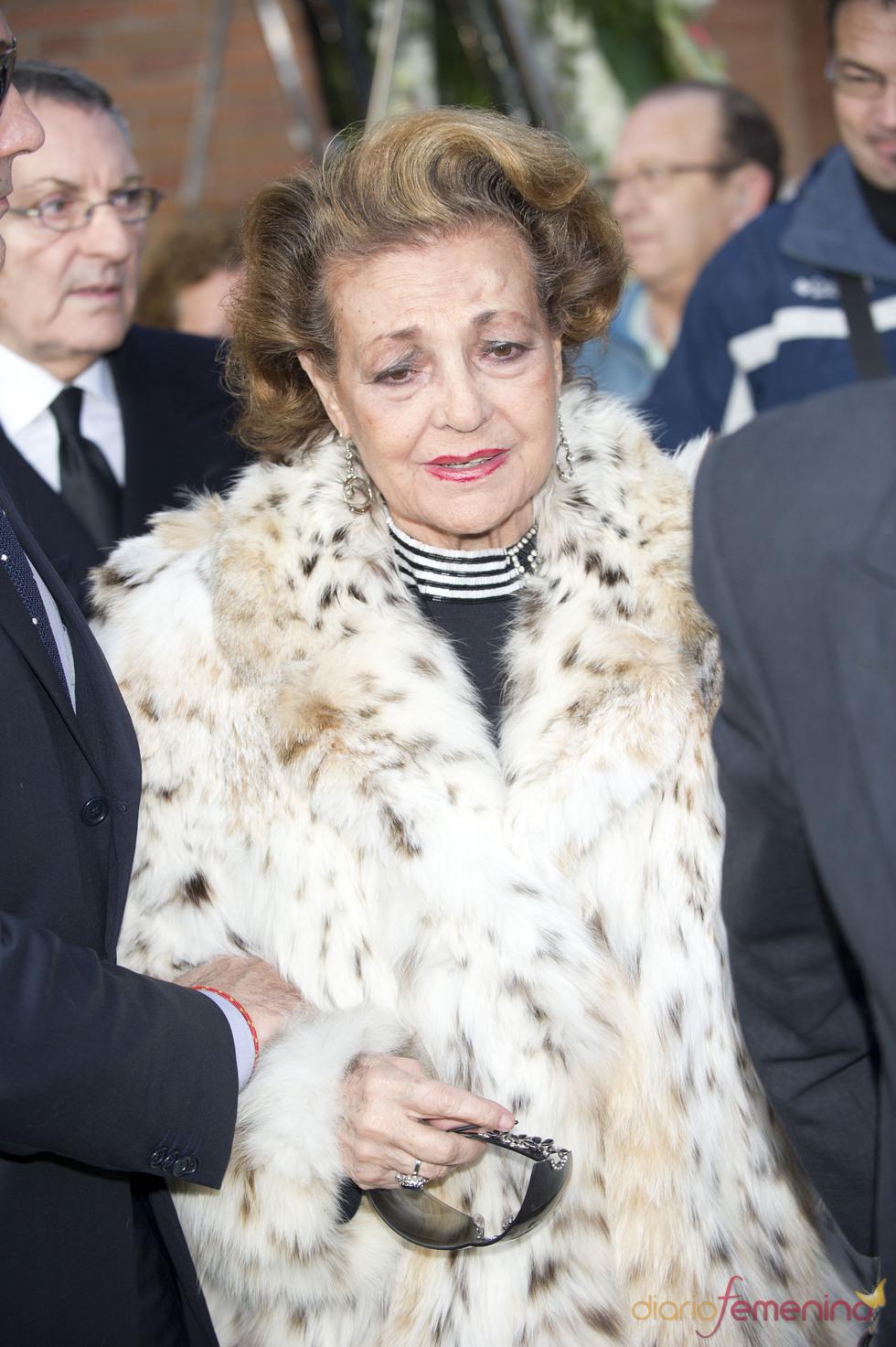 Carmen Sevilla se despide desconsolada de su ex marido