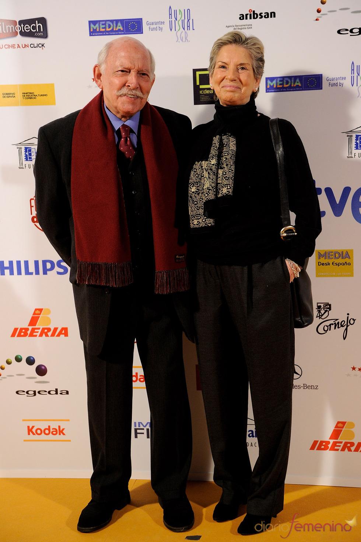 Álvaro de Luna y Carmen Barajas en los Premios Jose María Forqué 2011