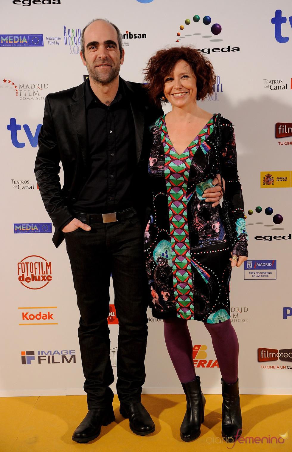 Luis Tosar e Icíar Bollaín en los Premios Jose María Forqué 2011