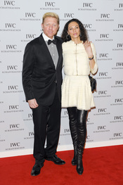 Boris Becker y su mujer en el Salón Internacional de la Alta Relojería