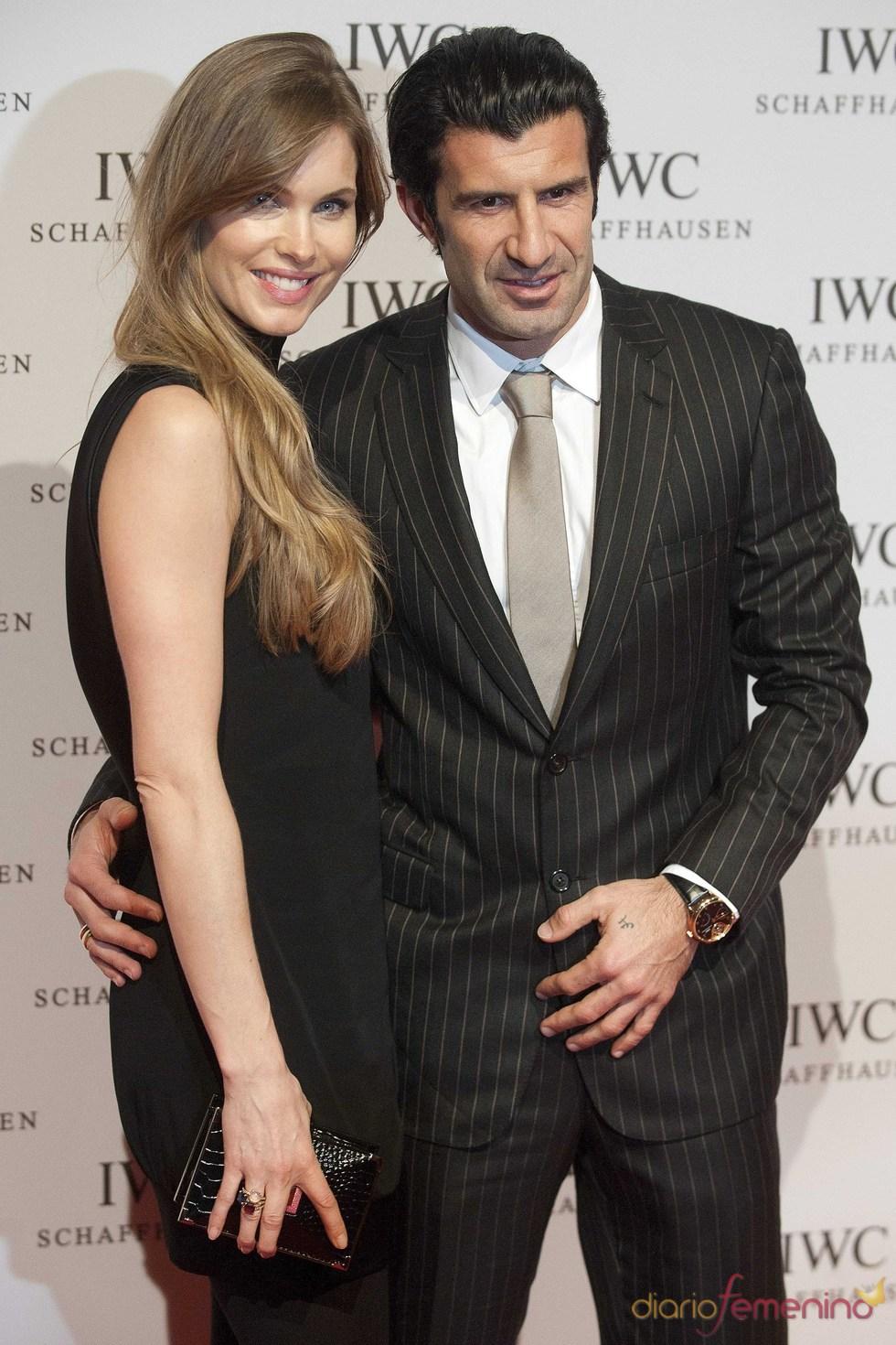 Luis Figo y su mujer Helen Swedin en el Salón Internacional de la Alta Relojería