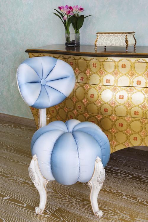 Silla acolchada estilo vintage decoraci n vintage para - Decoracion hogar vintage ...