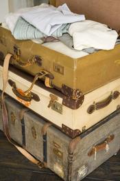 Maletas vintage que sirven también como decoracion