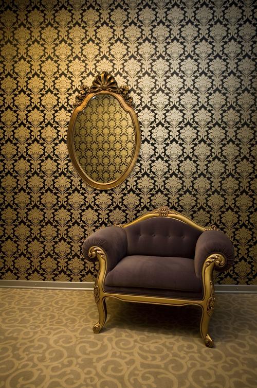 Sill n y espejo retro a juego decoraci n vintage para tu for Decoracion hogar retro